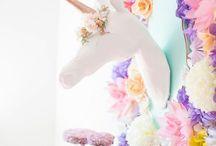 Unicorn parties / Magical unicorn and rainbow party ideas