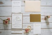 Gold Foil Invitations