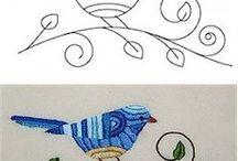 "Embroidery - Broderi - Bordado / ""Regular"" Embroidery, Sashiko, English Embroidery, Hardargen, Hemstitch, etc."