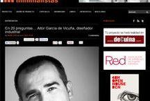 Prensa ( Aitor Garcia de Vicuña  /  AGVestudio ) / Entrevistas y notas de prensa de los proyectos , más relevantes , realizados en los últimos 10 años.