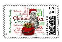 Postage Stamps - Unique and Custom / Postage stamps for the uniquely minded. Some are customizable with your name, message or monogram.
