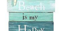 Beach and Nautical / Sailing, sandy beaches, tropics and coastal finds both as decorating ideas, themed greeting cards and gifts - anything fun with a beach feel.