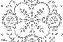 English Eyelet Embroidery - Festón bordado - Broderie anglaise