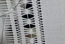 Hemstitch Embroidery - Vainica - Punto a giorno - Hohlsaum - Bainha aberta