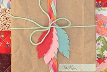 wrap it up / a nice handmade gift deserves a lovely wrapping package for perfect presentation