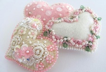 Fabric Hearts / Pretty Handmade Fabric Hearts / by Kitty and Me Designs