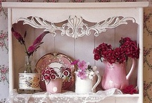 Shabby Cottage Decor / Shabby Chic, Shabby Cottage, Cottage Style / by Kitty and Me Designs