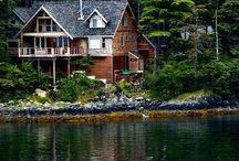 My future lake house/log cabin / Log home / by Lisa Rayome