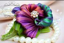 Shibori Ribbon / Beautiful silk shibori ribbon art and sources.