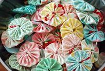 Fabric Yo Yo's / Lovely things made using Fabric Yo yo's