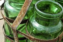 Vintage Glass Bottles & Jars / PLEASE be COURTEOUS when pinning!!  Or YOU will be BLOCKED!!  Thank you! / by Darlene Sojka