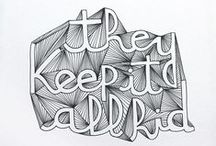 Design // Typography / Typographic quotes, layout and typeface ideas