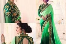 Designer Sarees / Heavy embroidered gorgeous designer sarees for wedding, party and ceremony occasions