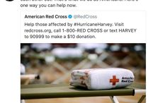 #HurricaneHarvey / Help those effected by #HurricaneHarvey. Visit redcross.org, call 1-800-RED CROSS or text HARVEY to 90999 to make a $10 donation . The American #RedCross is working hard to get help to where it is needed as Hurricane Harvey's catastrophic devastation is being called the worst #flooding disaster in U.S. history
