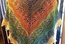 Szale i chusty na drutach