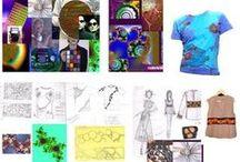 """Collage & overviews / A construçao dos personagens,seus """"espaços psíquicos""""; através de colagens, espaco poético"""". """"Cenários"""" da moda e do teatro / Constructing character images..."""