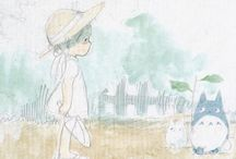 Ghibli sketches / sketches of Studio Ghibli's work