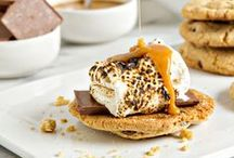 s'mores with a twist / smore recipes, easy s'more desserts, unique smores, s'more cookies