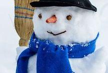 Schneemannideen für den Garten