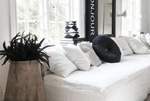 INTERIOR / Interiors in neutral colors - lots of white, black, grey and brown tones (wood and other natural accents).