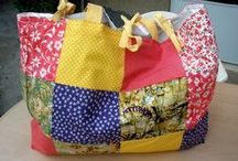 patchwork summer beach/shopping bags / fashionable, one of a kind bags