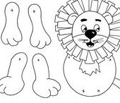 Lion themed crafts for kids / A selection of lion themed crafts suitable for children.