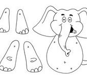 Elephant themed crafts for kids / A selection of elephant crafts suitable for kids at home, in school or during after school clubs.