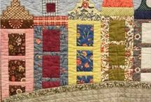 House quilts / house, church, cottage, barn,  quilt blocks