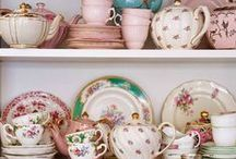 All Things Vintage and Flowery / flowers, vintage, tea cups, home decor, diy