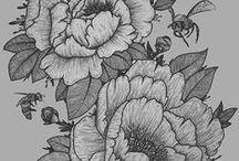 tattoos / tattoos - blackwork - dotwork - woodcut