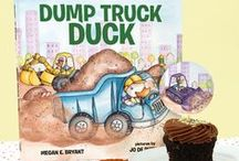 Dump Truck Duck Birthday Party / What's a perfect birthday party theme for a construction site fiend? This truck-filled birthday party is inspired by Dump Truck Duck by Megan E. Bryant and illustrated by Jo de Ruiter! All things cute construction, and fuzzy animals for any upcoming birthday party.