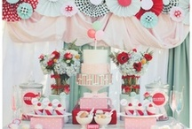 Sweet, dessert and party tables / Mesas dulces