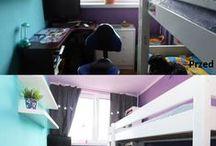 Home staging - przed i po / Metamorfoza pomieszczeń przedstawiona przed home stagingiem i po home stagingu.