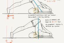 Asanas Sketches / Dessins de yoga par moi ou par d'autres !