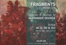 Fragments 2015 / Exhibition of Paintings by Alexander Devasia