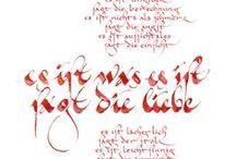 Kalligraphie-Karten-Kunst