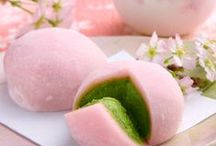 """Matcha & Wagashi ༺♥༻ / Two of my """"Favorite Themes"""" are: Green Tea & Japanese Confectionary - Matcha & Wagashi. Please also visit my other """"Sweet Tooth boards""""! You may find more pins with this theme on my color boards.  ༺♥༻ Welcome, there are no pin limits here. Please follow me, if you like what you see! ༺♥༻ / by Babs ༺♥༻ Pins by Color ♡♥♡"""