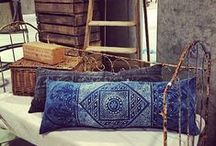 "HOC: Indigo Pillow / Sacred and Beloved, beautiful vintage Indigo textiles from around the world, made into ""one of a kind"" luxury pillows."