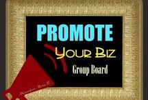 Promote Your Biz ミヽ◕‿◕ノ彡 / This board is specifically created for you to PROMOTE your Business work, products, groups, blogs and other stuff here. Leave a message on one of my pins or direct message me if you'd like to join. Also note that you have to be following me or the board in order to participate in pinning. NO SPAM, no nudity and no sexual content or Repeats. Inappropriate pins will be removed from this board and will be BLOCKED. Thank you pinners for joining in. ♛Mona B.♛