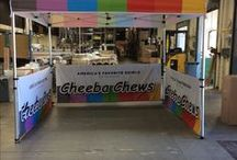 Customized Canopy Tents / Outdoor Customized Canopy Tents for all kinds of Events, Festivals, Farmer's Markets, Trade Shows and other applications.  Add just your logo or custom print the entire top, sides and back wall banner.