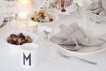 Tableware and settings