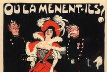 Paris: Street scenes, Cafes and Bars / Vintage Poster