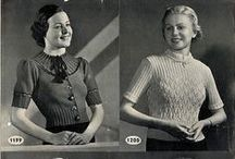 vintage knitting and crochet