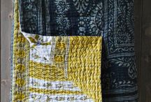 I love #Kantha / Indian Kantha throws, quilts, scarves, cushions, bedcovers,sari's and Kantha stitch I love.