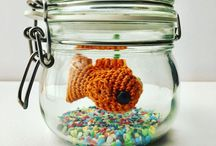 Mollie Makes Handmade Awards 2017 / No Fuss Fish are my signature product. I designed the pattern two years ago and each fish is created by me. They hang from invisible thread in a clip top jar  with gravel and crocheted pond weed. They are the perfect pet for desks to keep you smiling at work, students or anyone who doesn't want the hassle of real fish . I would like to enter the Start Up Business Award and the Best New Product Award.