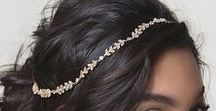 AMY O. BRIDAL HEADPIECES / Style your bridal hairdo with the right accessories. Gold and silver handcrafted, bohemian bridal hair accessories by Amy O. Bridal.