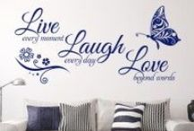 Quote Wall Art Sticker For Your Home From Smarty Walls / We have a wide range of quotes for any room in your house and the full range can be found here - http://www.smartywalls.co.uk/
