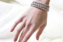 AMY O. BRIDAL BRACELETS / Stackable modern bracelets for the elegant bride. Check out these crystal bridal bracelets for your wedding.