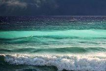 The sea ..