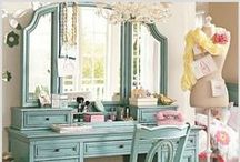 dressing table love / there is nothing quite as feminine, charming and absolutely necessary as a beautiful dressing table.........